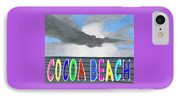 Cocoa Beach Poster T-shirt IPhone Case