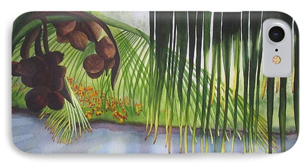 IPhone Case featuring the painting Coconut Tree by Teresa Beyer