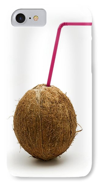 Coconut With A Straw IPhone Case