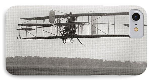 Cody S Biplane In The Air In 1909 IPhone Case