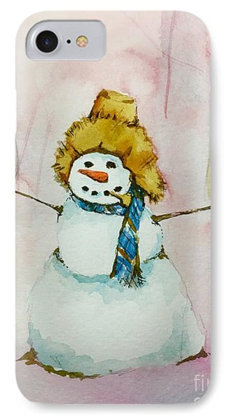 IPhone Case featuring the painting Cody's First Frosty by Lynn Babineau