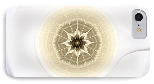 IPhone Case featuring the digital art Coffe Foam Mandala by Klara Acel