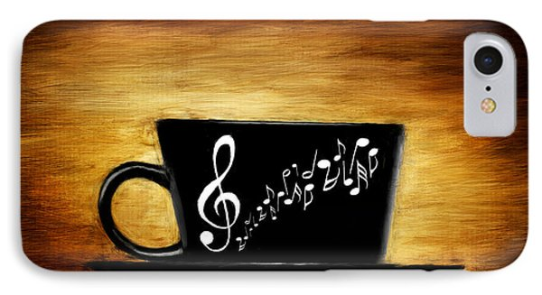 Coffee And Music IPhone Case by Lourry Legarde