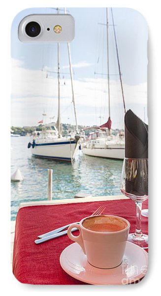 Coffee At Mediterranean Harbour IPhone Case