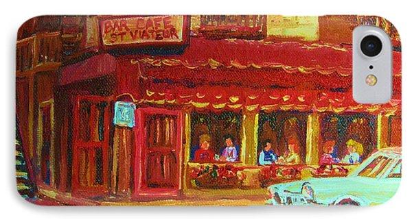 Coffee Bar On The Corner Phone Case by Carole Spandau