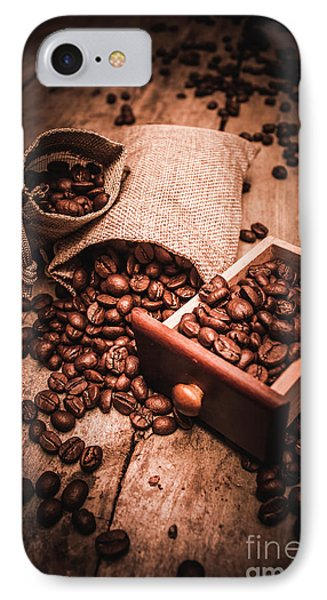 Coffee Bean Art IPhone Case by Jorgo Photography - Wall Art Gallery