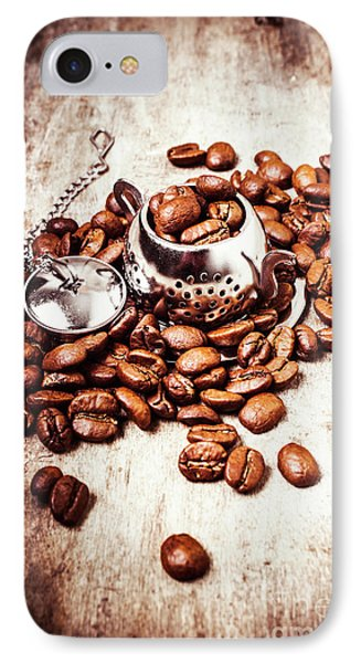Coffee Break At The Tea House IPhone Case by Jorgo Photography - Wall Art Gallery