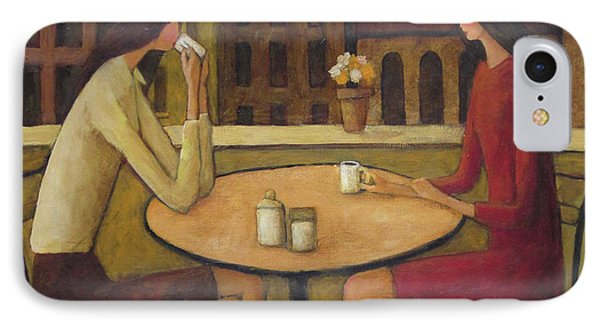 IPhone Case featuring the painting Coffee Break by Glenn Quist