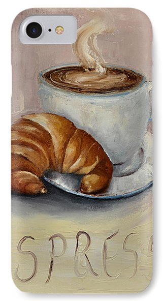 IPhone Case featuring the painting Coffee Break by Lindsay Frost