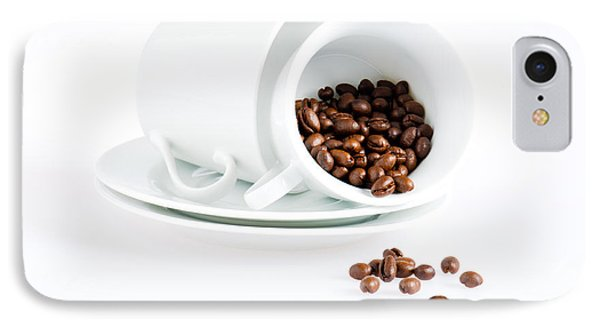 Coffee Cups And Coffee Beans  IPhone Case