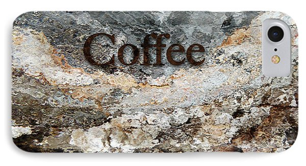 Coffee Edit 2 Brown Letters IPhone Case by Margie Chapman