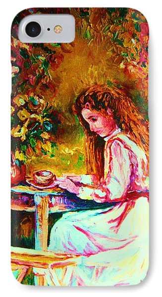 Coffee In The Garden Phone Case by Carole Spandau