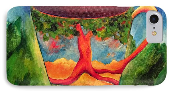 Coffee In The Park IPhone Case by Elizabeth Fontaine-Barr