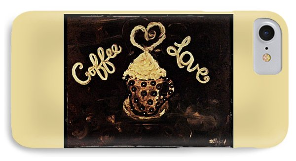 Coffee Love IPhone Case by Sherry Flaker