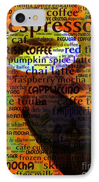Coffee Lover 5d24472p8 IPhone Case by Home Decor