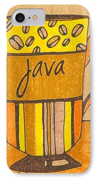 Coffee Mug - Java Cup - Cup Of Joe - Morning Coffee Illustration Art IPhone Case by Patricia Awapara