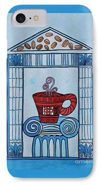 Coffee Palace Blue IPhone Case by Norma Appleton