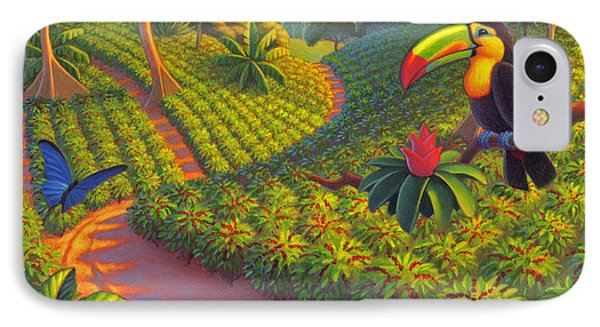 Toucan iPhone 7 Case - Coffee Plantation by Robin Moline