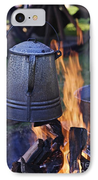 Coffee Pot Over An Open Fire IPhone Case by Jeremy Woodhouse