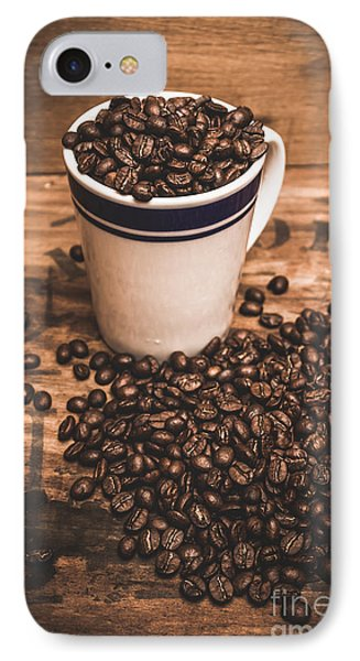 Coffee Shop Cup And Beans IPhone Case by Jorgo Photography - Wall Art Gallery