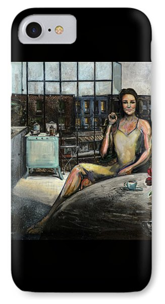 Coffee With Kate Phone Case by Antonio Ortiz