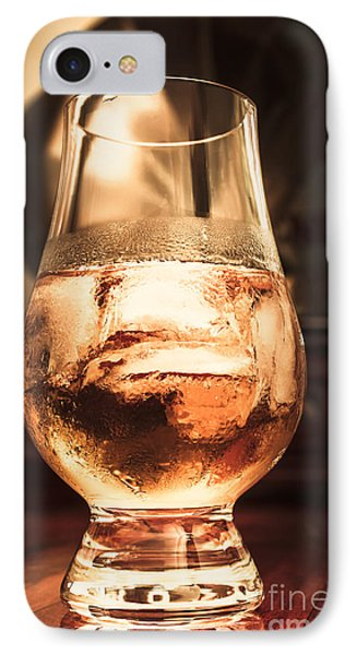 Cognac Glass On Bar Counter IPhone Case by Jorgo Photography - Wall Art Gallery
