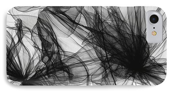 Coherence - Black And White Modern Art IPhone Case by Lourry Legarde