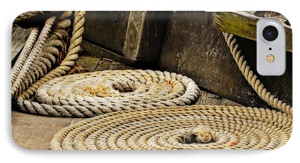 Coiled Rope From Philadelphia II Gunboat IPhone Case by Rena Trepanier