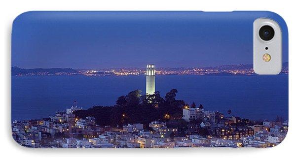 Coit Tower At Dusk San Francisco California IPhone Case by Carol M Highsmith