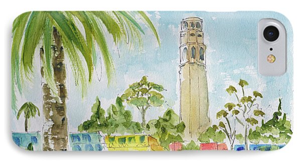 IPhone Case featuring the painting Coit Tower by Pat Katz