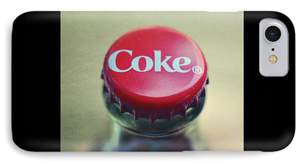Coke Bottle Cap Square IPhone Case by Terry DeLuco