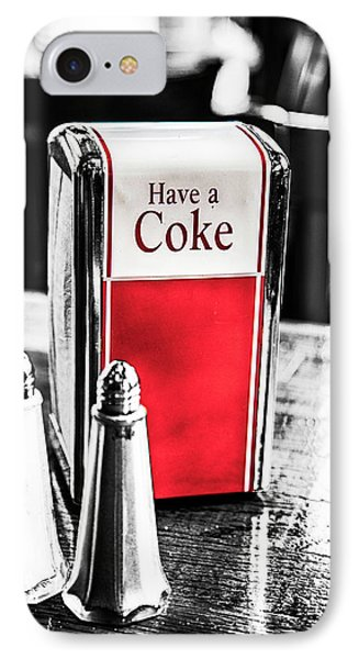 IPhone Case featuring the photograph Coke Napkins by Karol Livote