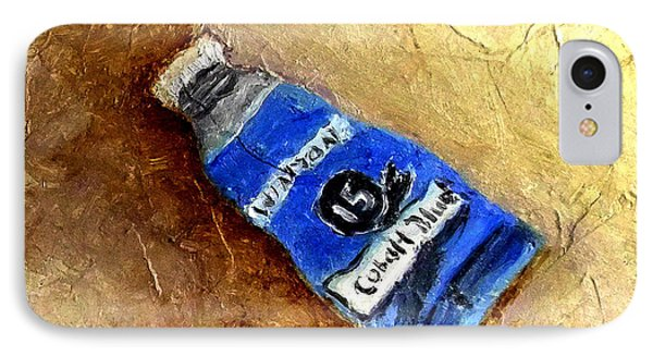 IPhone Case featuring the painting Colbalt Blue by Fred Wilson