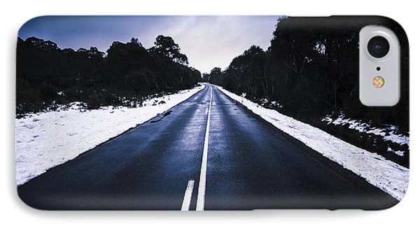Cold Blue Highway IPhone Case