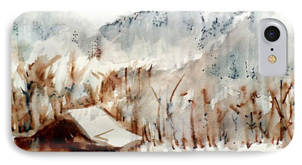 IPhone Case featuring the mixed media Cold Cove by Seth Weaver