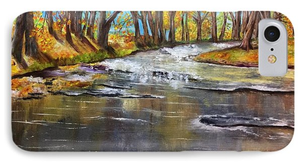 Cold Day At The Creek IPhone Case by Annamarie Sidella-Felts