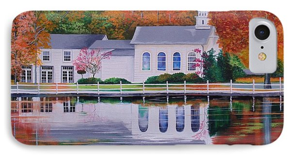 Cold Spring Harbor St Johns Church IPhone Case by Nereida Rodriguez