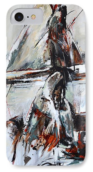 IPhone Case featuring the painting Cold Winter Day by Cher Devereaux