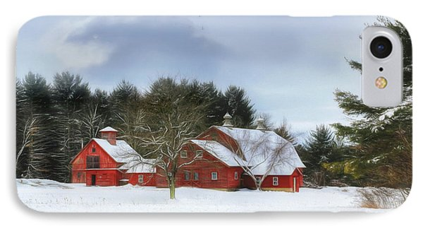 IPhone Case featuring the digital art Cold Winter Days In Vermont by Sharon Batdorf