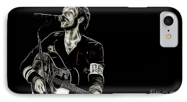 Coldplay Collection Chris Martin IPhone Case by Marvin Blaine