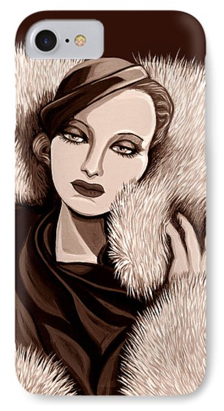 Colette In Sepia Tone Phone Case by Tara Hutton
