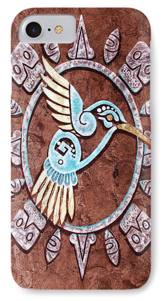 IPhone Case featuring the painting Colibri by J- J- Espinoza