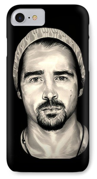 Colin Farrell  Total Recall IPhone Case by Fred Larucci