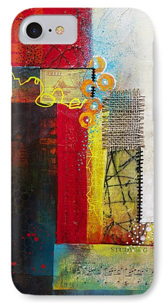 IPhone Case featuring the painting Collage Art 1 by Patricia Lintner