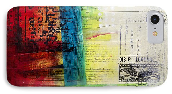 IPhone Case featuring the painting Collage Art 4 by Patricia Lintner