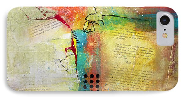 IPhone Case featuring the painting Collage Art 5 by Patricia Lintner