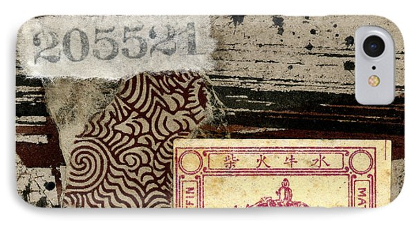 IPhone Case featuring the mixed media Collage Envelope Detail Monkey Water Buffalo by Carol Leigh