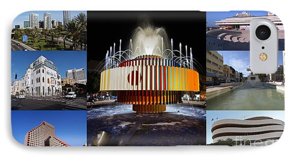 Collage Of Tel Aviv Israel Phone Case by Ilan Rosen