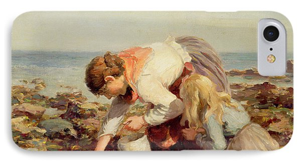 Collecting Shells  IPhone Case by William Marshall Brown