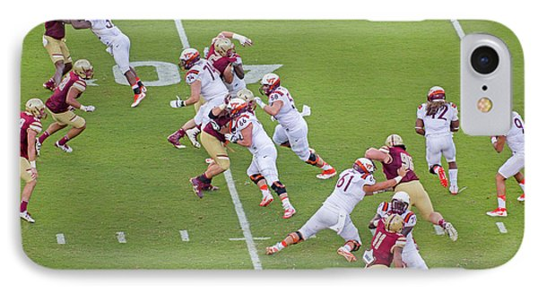 College Football Vt And Boston College IPhone Case by Betsy Knapp